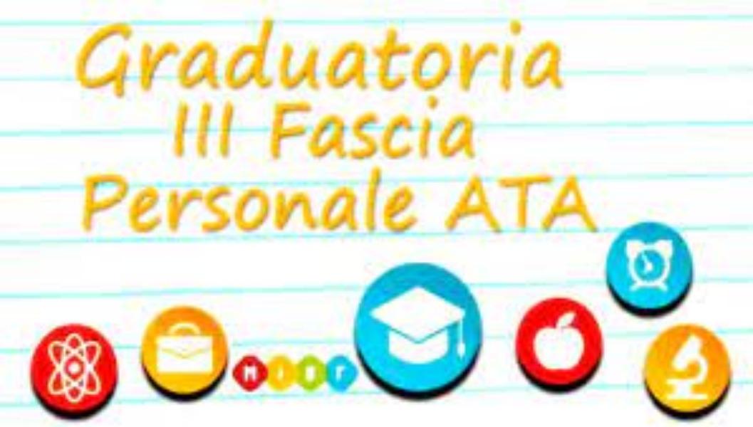 GRADUATORIE D'ISTITUTO 3^ FASCIA PROVVISORIE - ...